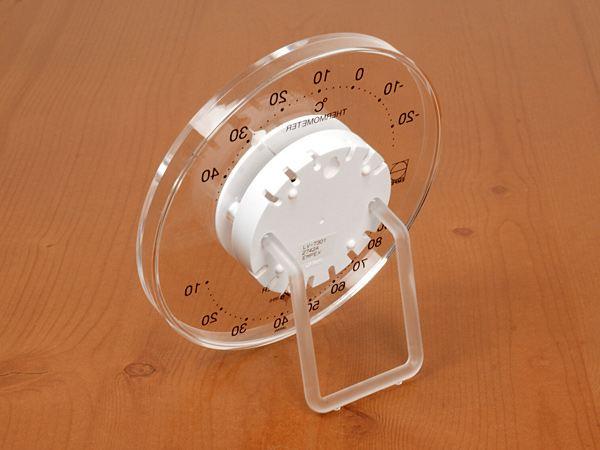 アナログ温湿度計の裏面