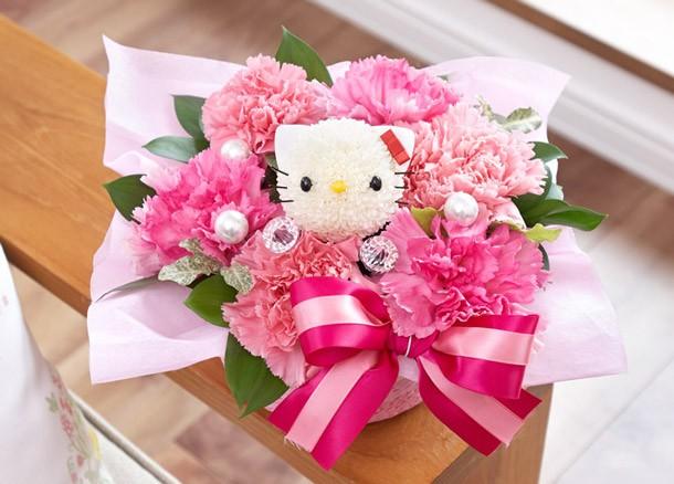 ハローキティのキャラ花束