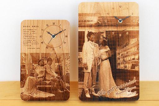 木製時計のサイズ(MとL)