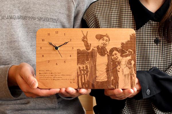 オリジナル木製時計