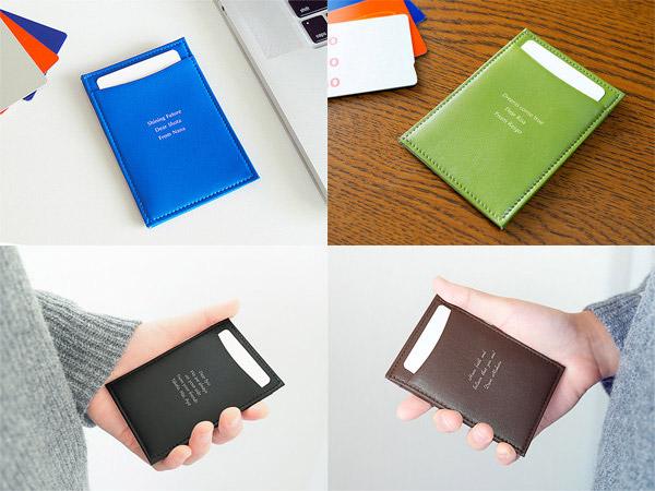 メッセージ入れパスケースの他4色